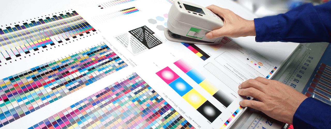 Image of label printing set up
